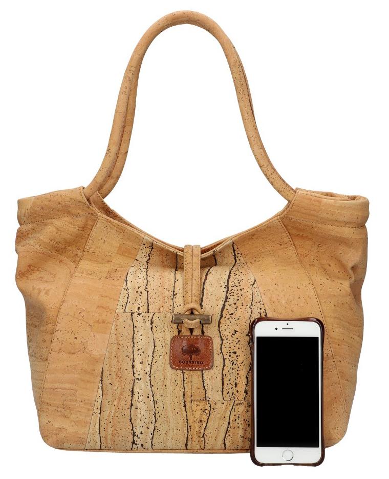 SOBREIRO Korková prírodná dámska kabelka cez rameno M5