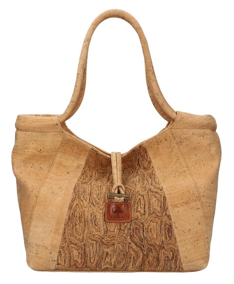 SOBREIRO Korková přírodní dámská kabelka přes rameno M6