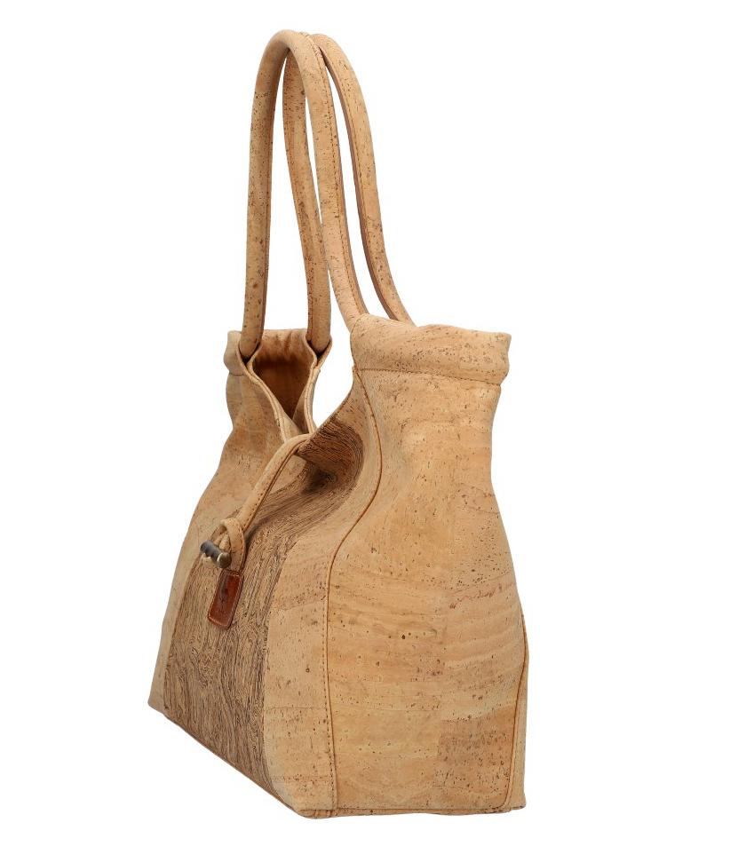 SOBREIRO Korková prírodná dámska kabelka cez rameno M6