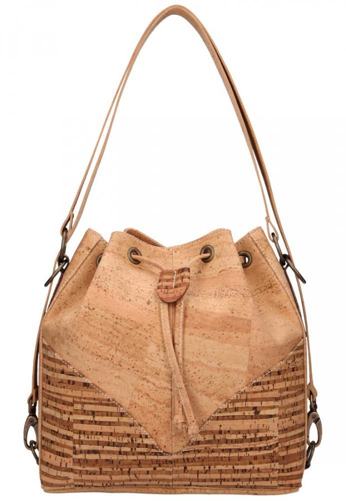 Korková přírodní dámská kabelka přes rameno M1