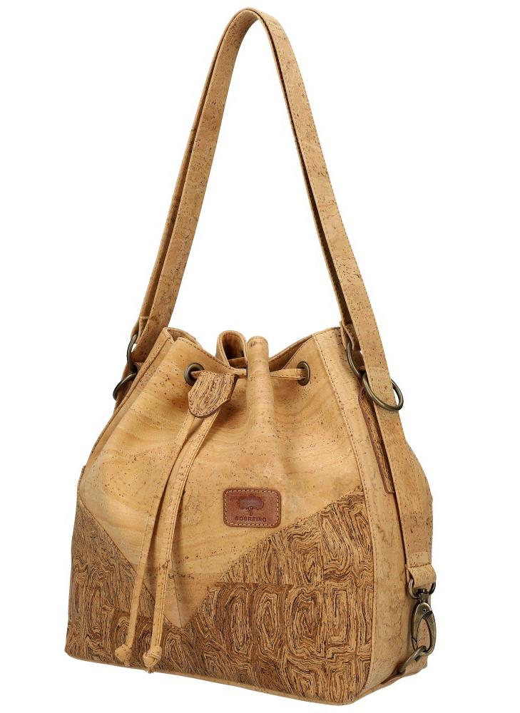 SOBREIRO Korková prírodná dámska kabelka cez rameno