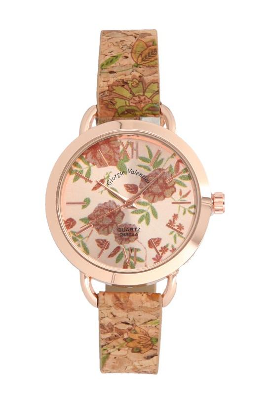 Korkové náramkové dámské hodinky Giorgie TC19026
