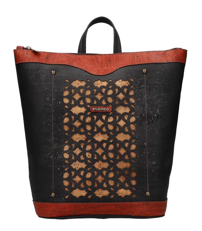 ELENCO Prestižní korkový dámský batoh přírodní EL4070