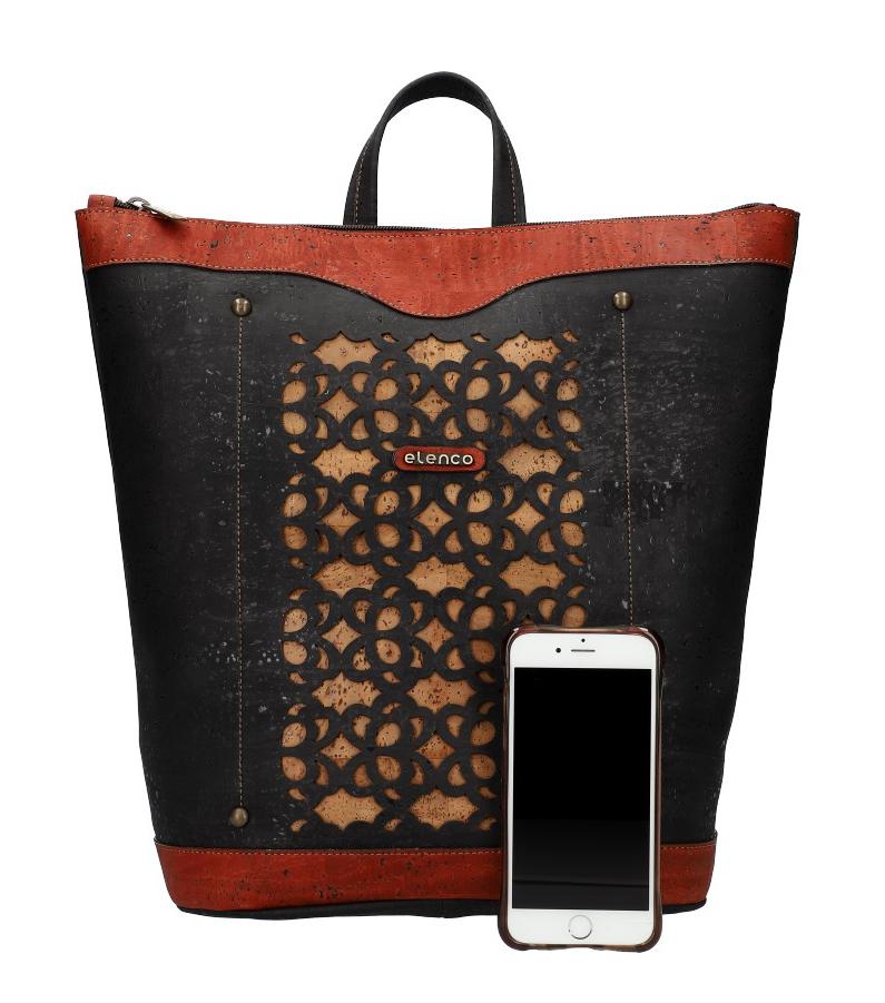 ELENCO Prestížny korkový dámsky ruksak prírodný EL4070