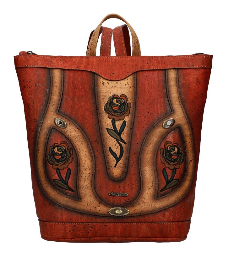 ELENCO Prestižní korkový dámský batoh přírodní EL5061