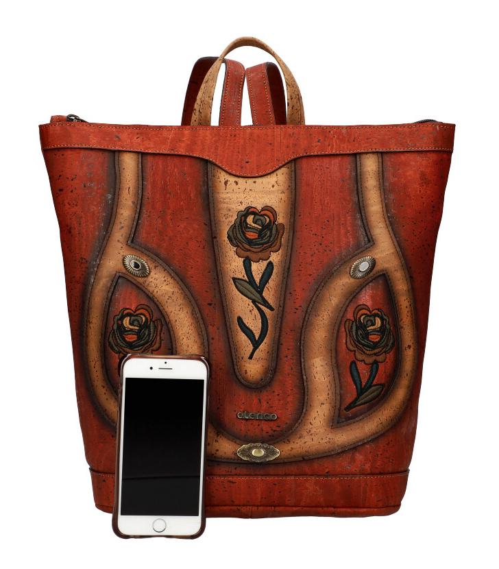 ELENCO Prestížny korkový dámsky ruksak prírodný EL5061