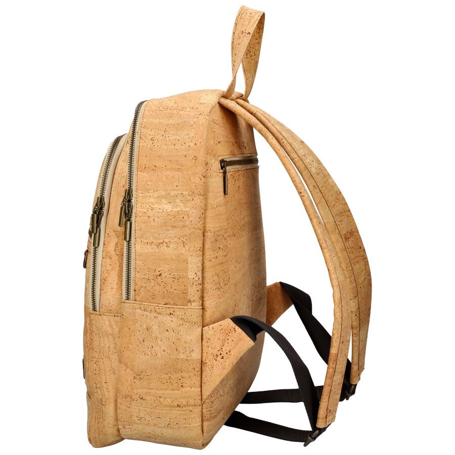 SIMARO Luxusní batoh z pravého portugalského korku 2075 přírodní