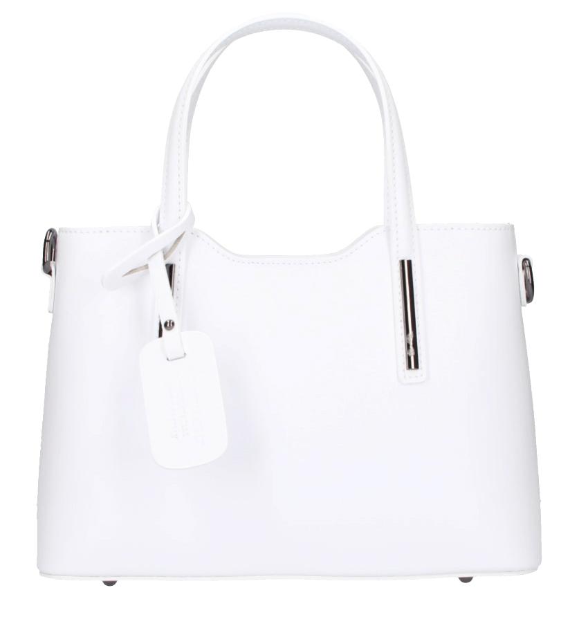 Kožená biela dámska kabelka do ruky Maila