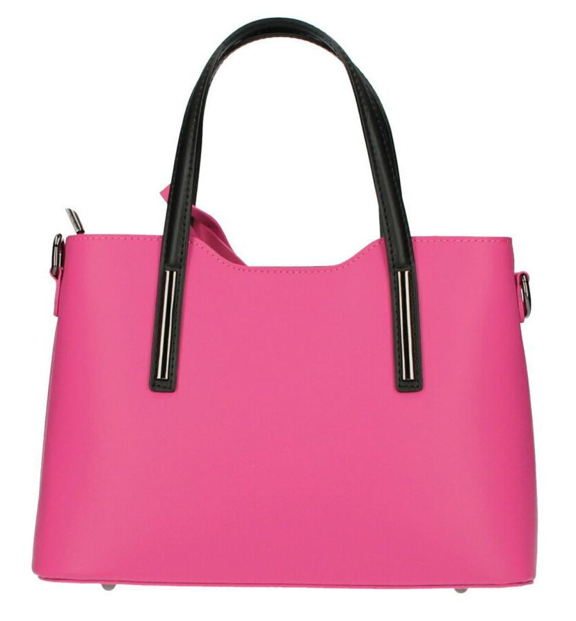 Kožená fuchsiová dámská kabelka do ruky Maila