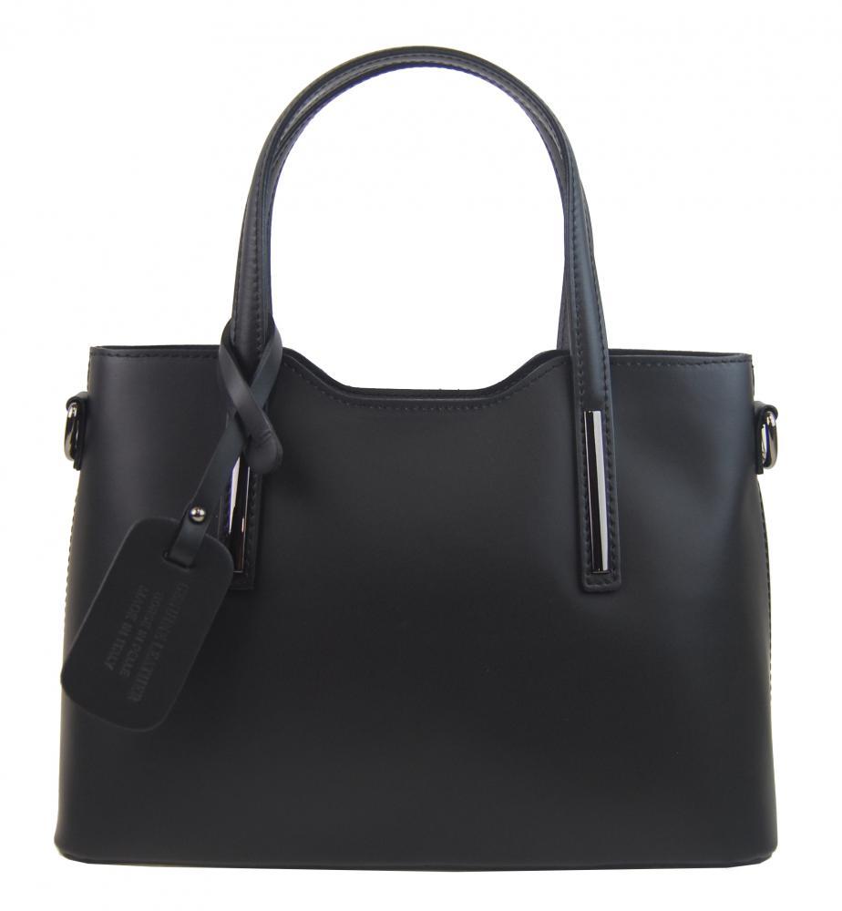 Kožená čierna dámska kabelka do ruky Maila