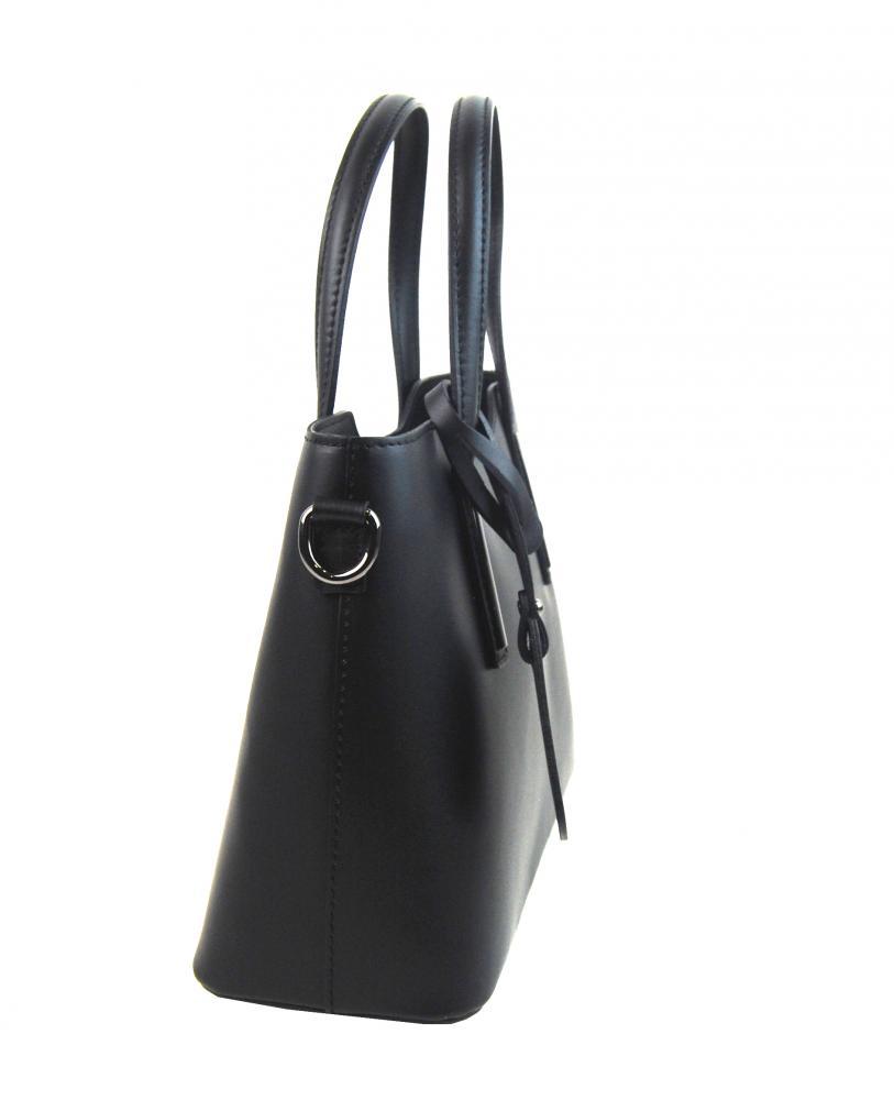 Kožená světle kapučínová dámská kabelka do ruky Maila