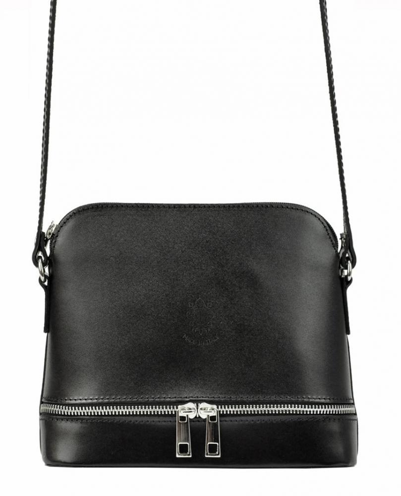 Kožená černá malá dámská crossbody kabelka Florence