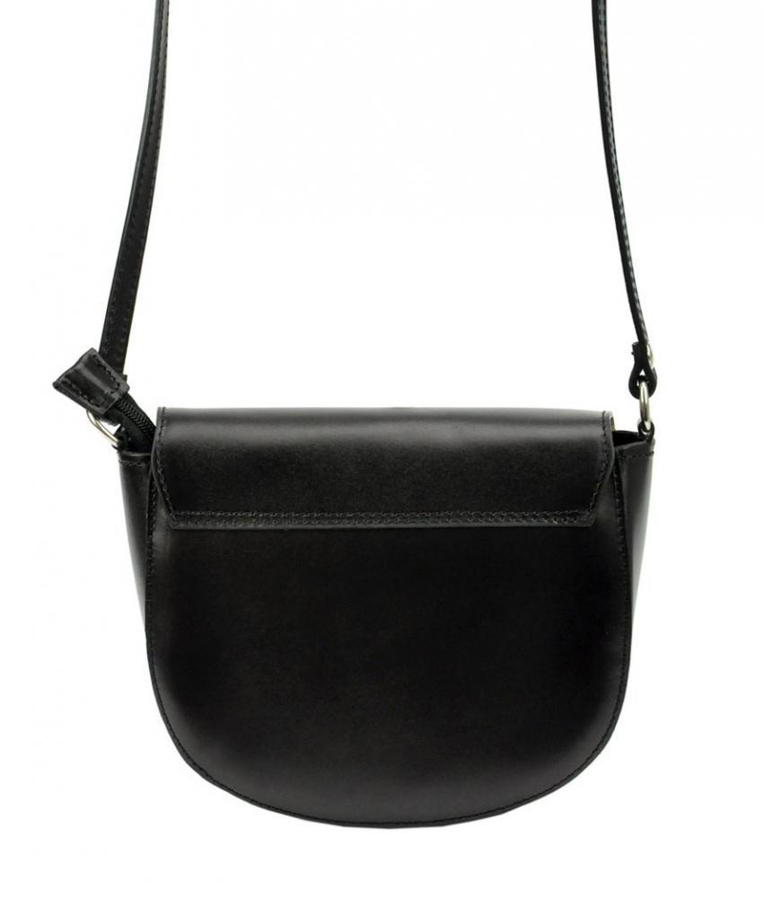 Kožená čierna malá dámska crossbody kabelka Patrizia Piu