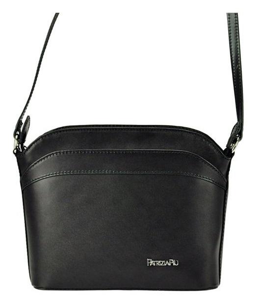 Malá čierna kožená dámska crossbody kabelka