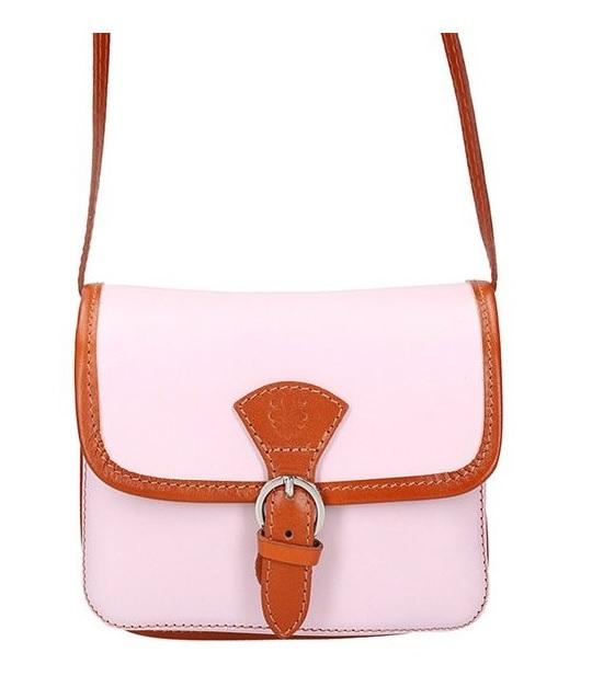 e7fa5b265a Kožená malá dámská crossbody kabelka růžová