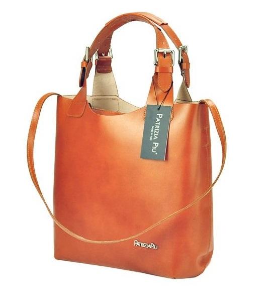 Béžová kožená dámska kabelka Patrizia Piu