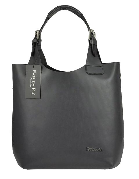 Sivá kožená dámska kabelka Patrizia Piu