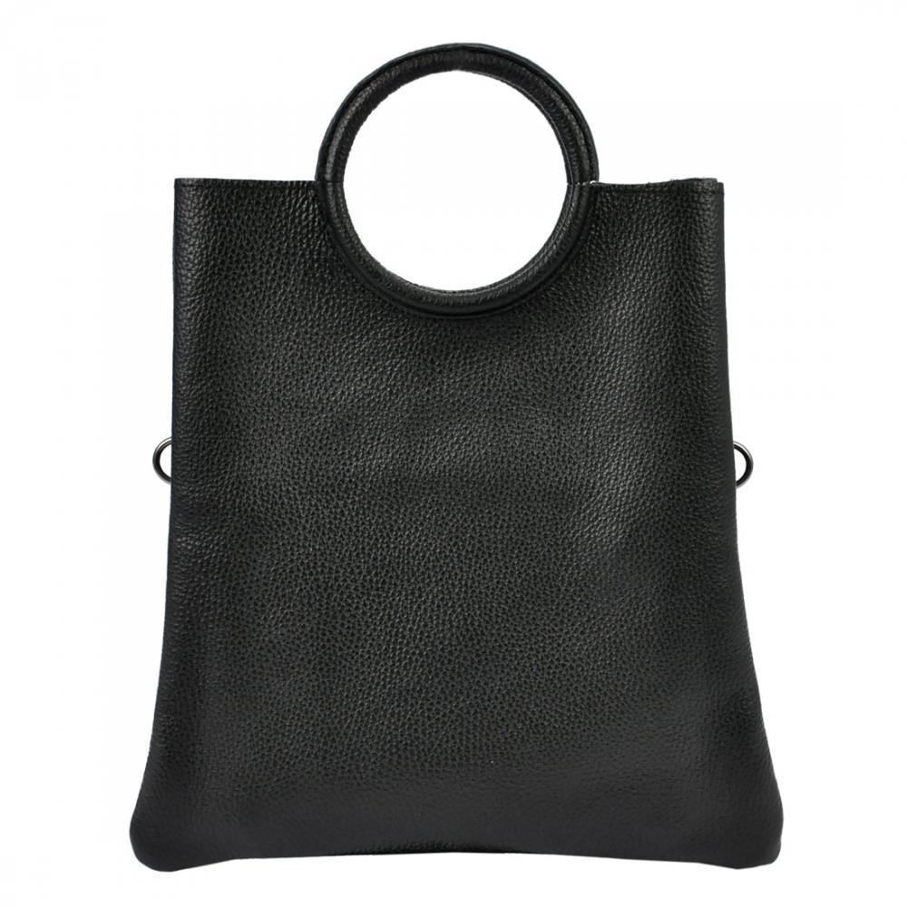 Kožená čierna moderná dámska kabelka Patrizia Piu
