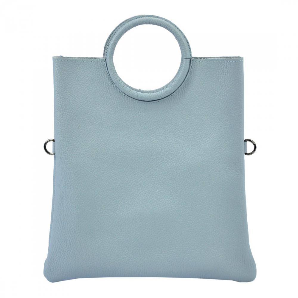 Kožená modrá moderná dámska kabelka Patrizia Piu