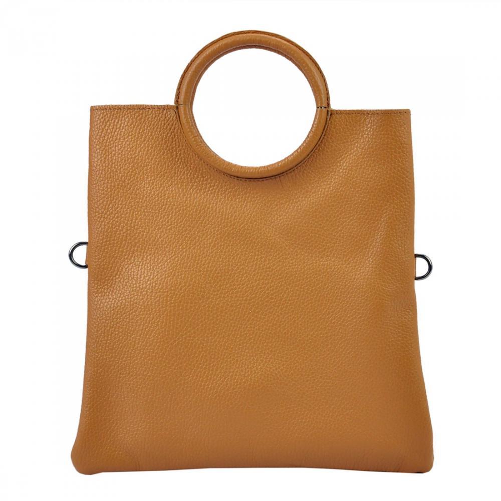 Kožená ťavia hnedá moderná dámska kabelka Patrizia Piu