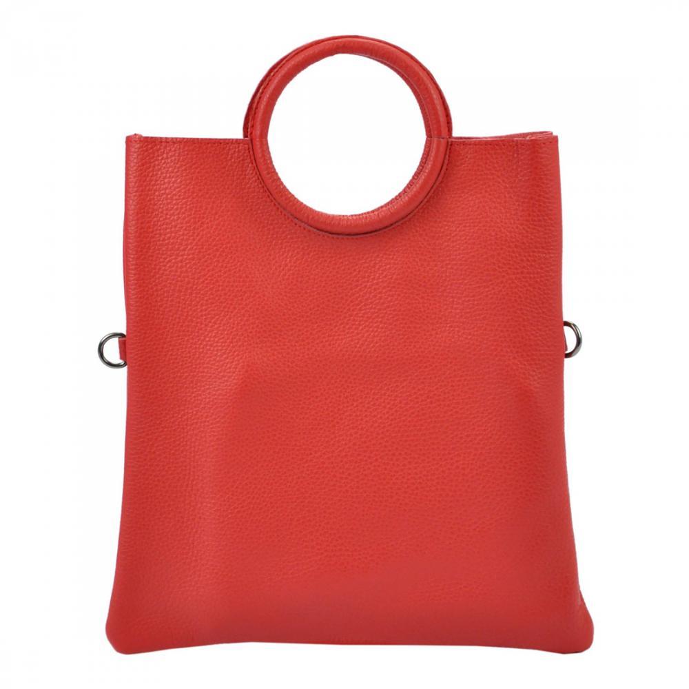 Kožená červená moderná dámska kabelka Patrizia Piu