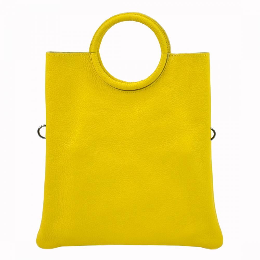 Kožená žltá moderná dámska kabelka Patrizia Piu
