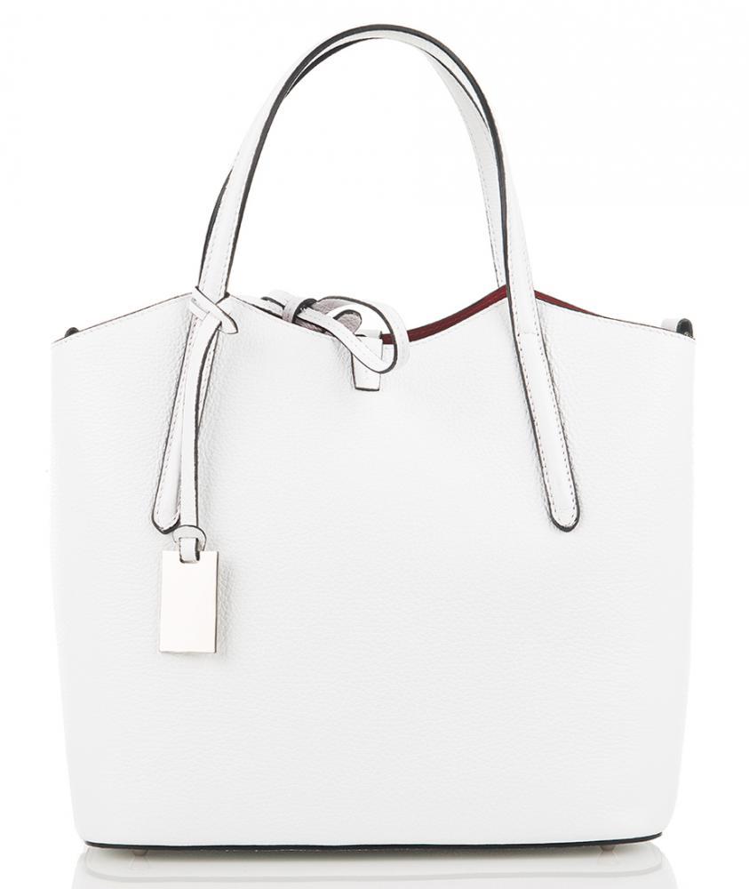 Kožená italská dámská kabelka bílá First Lady  + protiprachový sáček