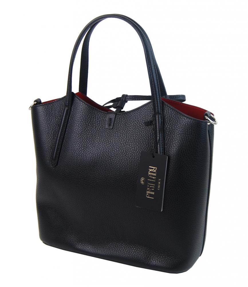 Kožená talianska dámska kabelka hnedá First Lady + protiprachový sáčok