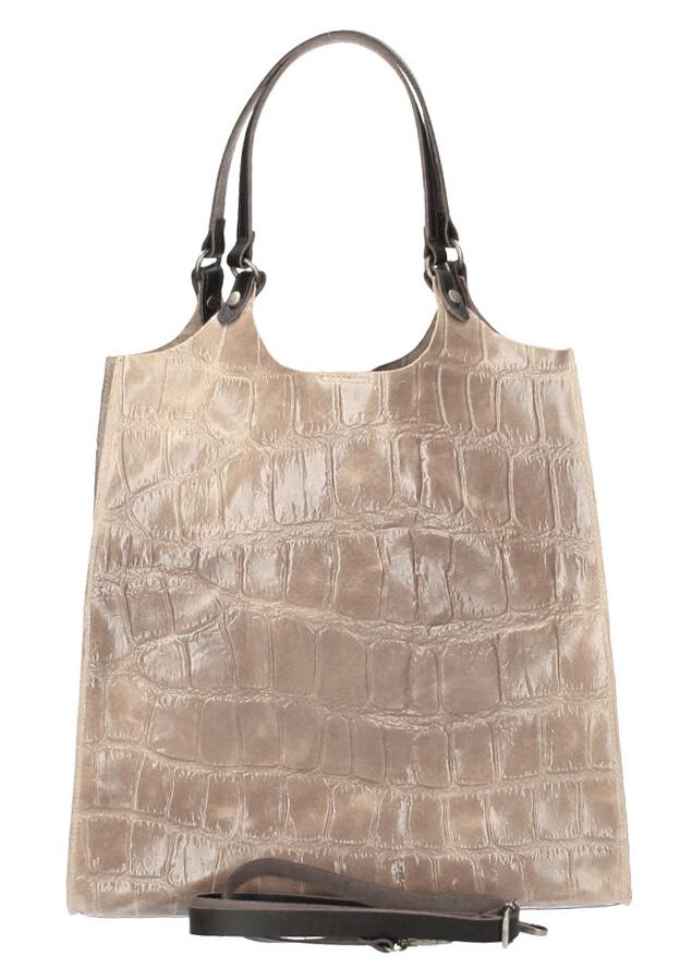Kožená velká dámská kabelka Ginevra černá
