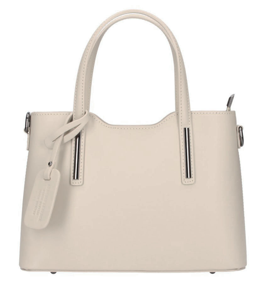Kožená béžová dámská kabelka do ruky Maila