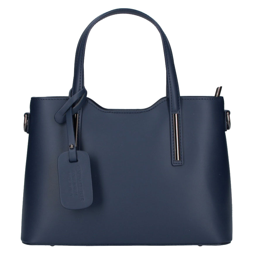 Kožená námořnická modrá dámská kabelka do ruky Maila