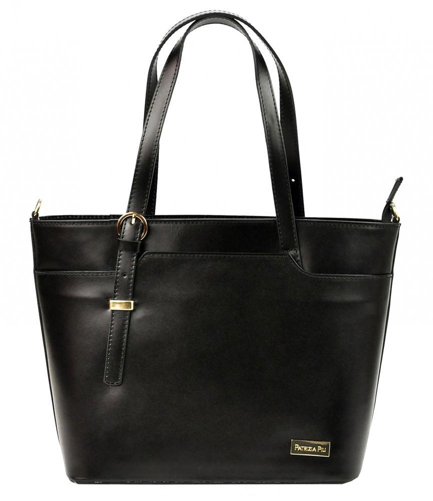 Kožená černá dámská kabelka Patrizia Piu