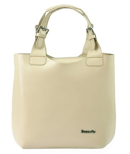 Béžová kožená dámská kabelka Patrizia Piu