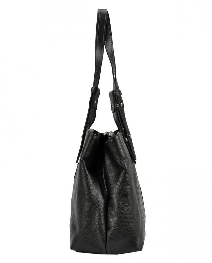 Pierre Cardin Kožená dámská kabelka přes rameno šedohnědá