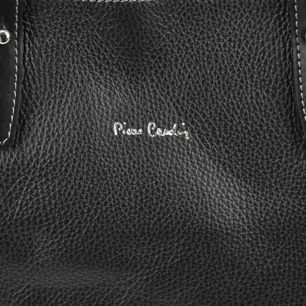 Pierre Cardin Kožená dámska kabelka cez rameno ťavia hnedá