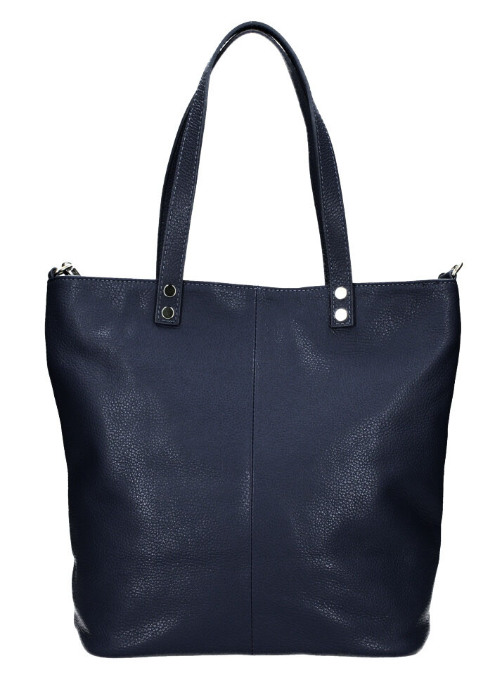 PELLE Kožená velká dámská shopper kabelka Juliette tmavě modrá