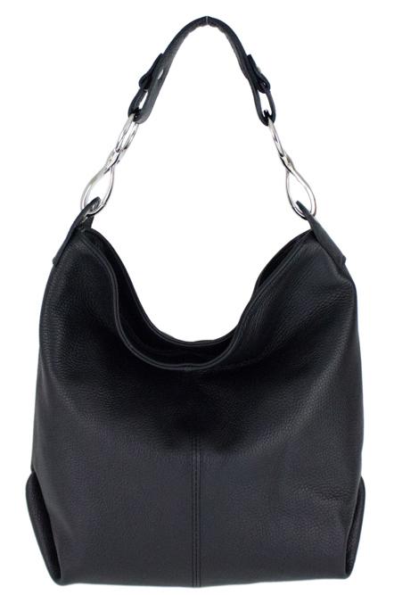 Kožená dámska kabelka Shaila čierna