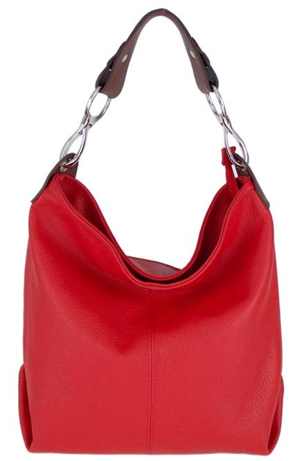 Kožená dámská kabelka Shaila červená