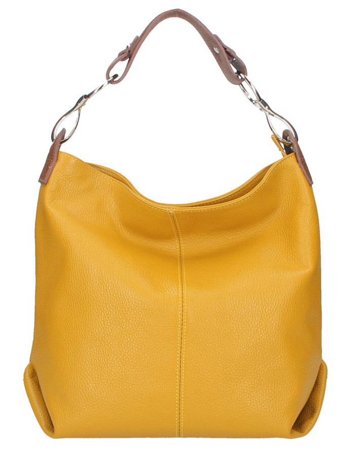 Kožená dámska kabelka Shaila horčicová žltá