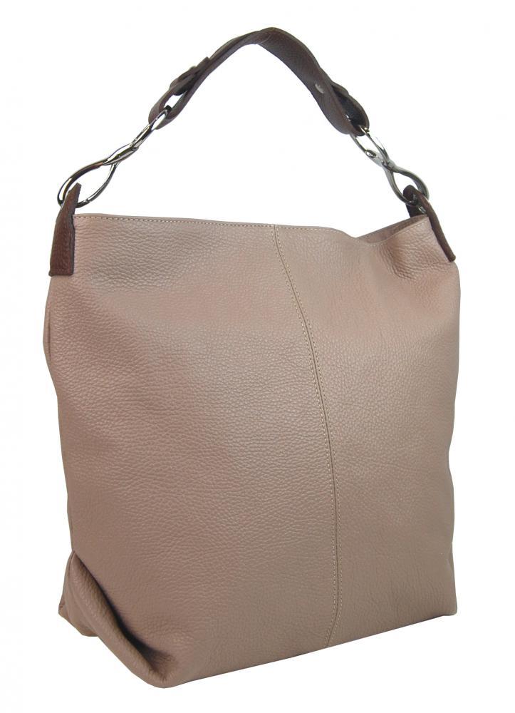 Kožená dámska kabelka Shaila červená