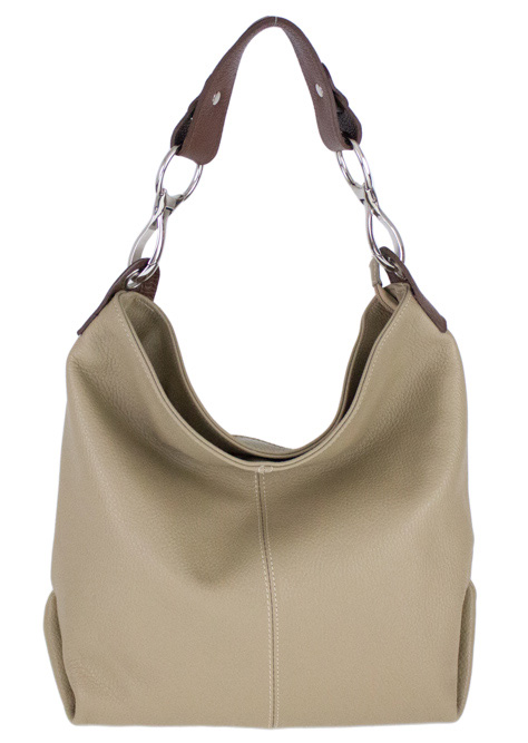 Kožená dámská kabelka Shaila hnědobéžová