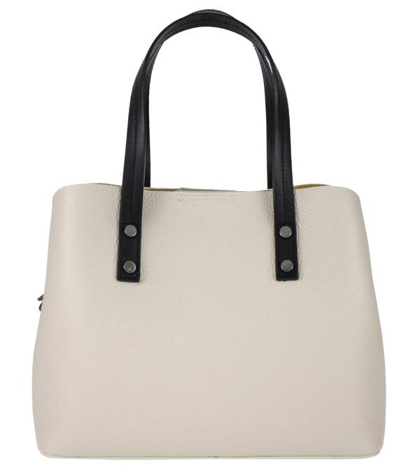 Kožená béžová dámská kabelka do ruky Florencie