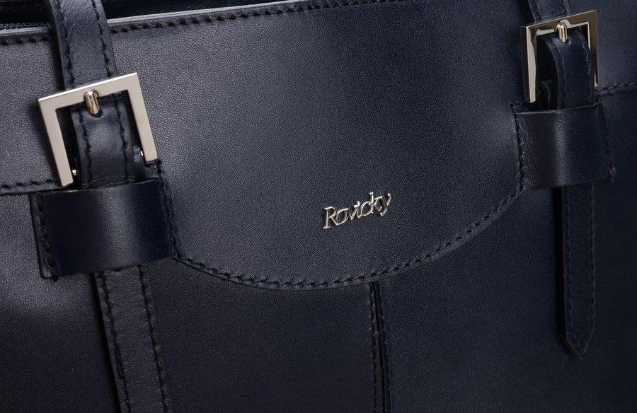 Kožená dámska kabelka cez rameno hnedá