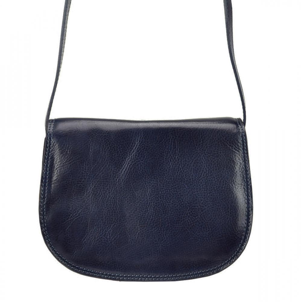 Kožená crossbody dámská kabelka Enila I Fratelli námořnická modrá