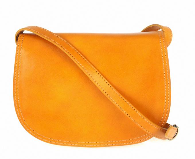 Kožená crossbody dámská kabelka Enila I Fratelli hořčicová žlutá