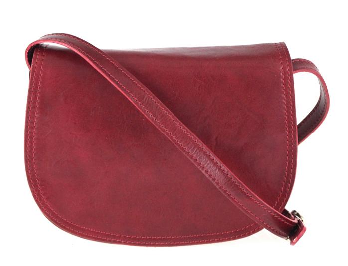 Kožená crossbody dámská kabelka Enila I Fratelli burgundská červená
