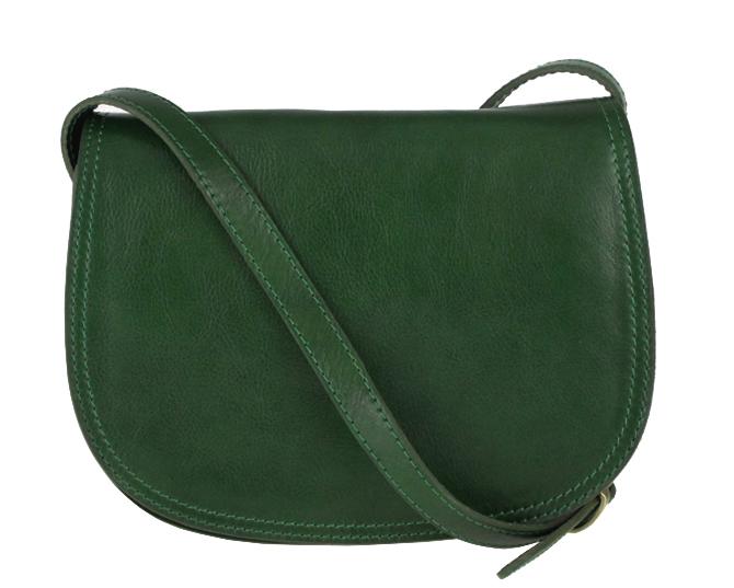 Kožená crossbody dámská kabelka Enila I Fratelli tmavá zelená