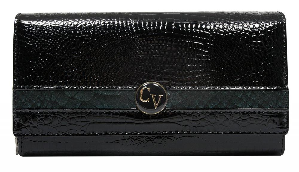Cavaldi Kožená peněženka dámská černo-modrá v dárkové krabičce