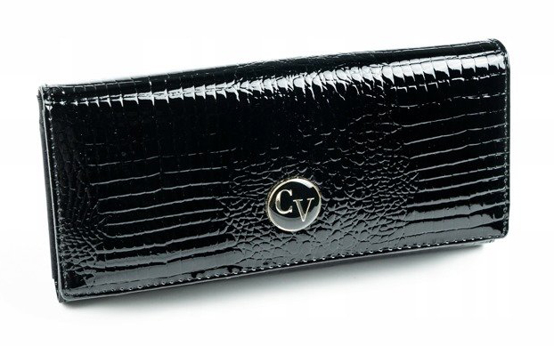 Cavaldi Kožená peňaženka dámska čierna v darčekovej krabičke