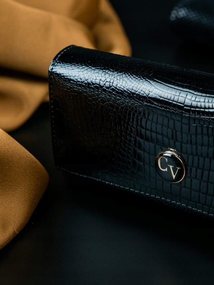 Cavaldi Kožená peněženka dámská černá v dárkové krabičce